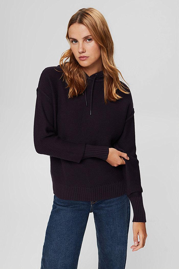 Pullover mit Kapuze, 100% Baumwolle, NAVY, detail image number 0