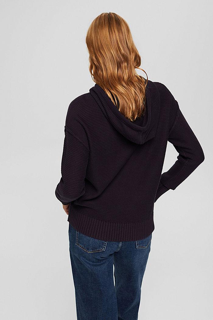 Pullover mit Kapuze, 100% Baumwolle, NAVY, detail image number 3
