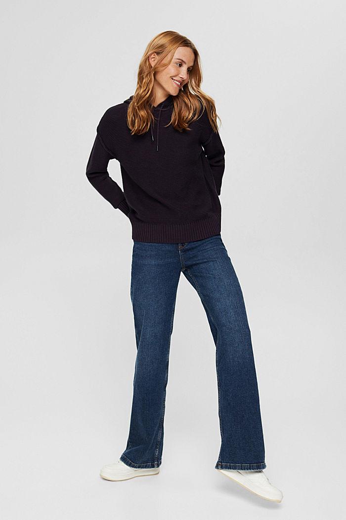 Pullover mit Kapuze, 100% Baumwolle, NAVY, detail image number 1