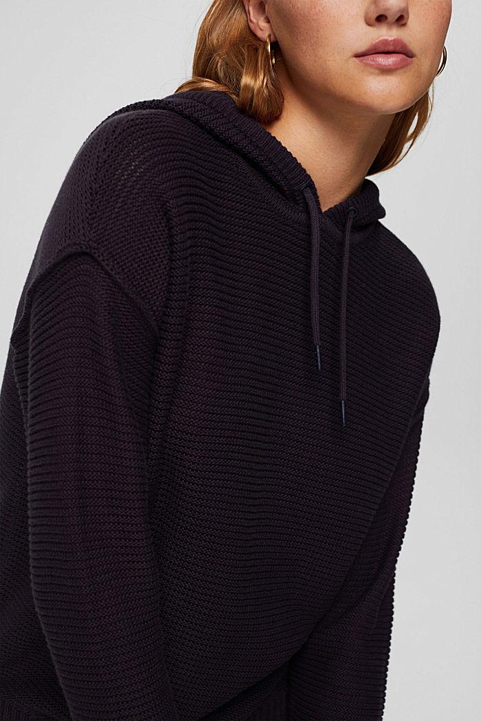 Pullover mit Kapuze, 100% Baumwolle, NAVY, detail image number 2