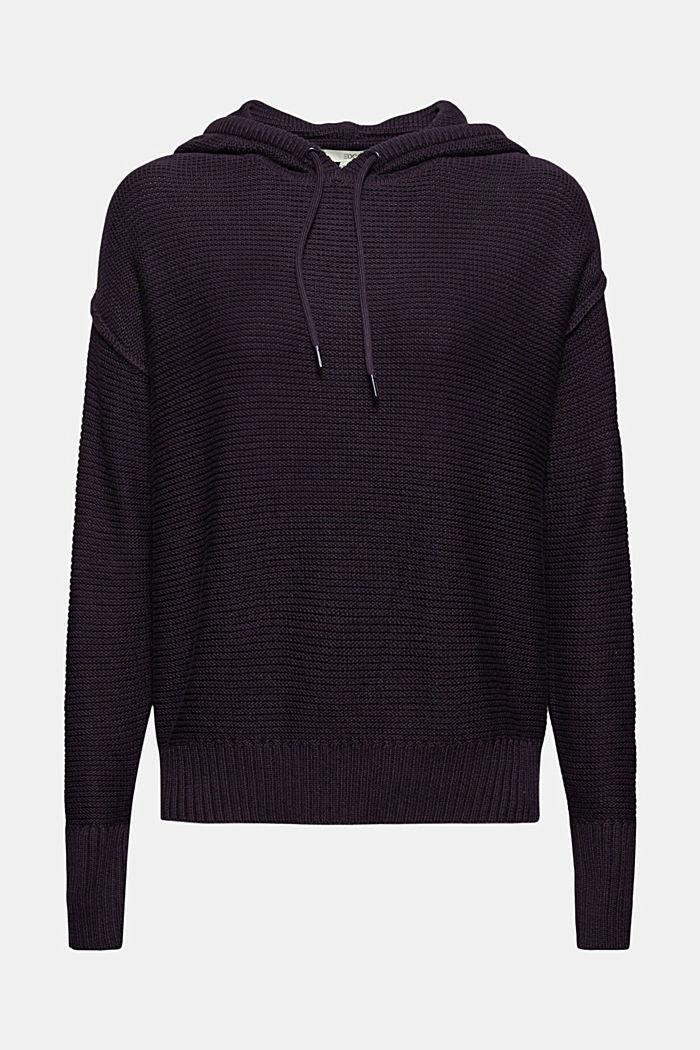 Pullover mit Kapuze, 100% Baumwolle, NAVY, detail image number 7