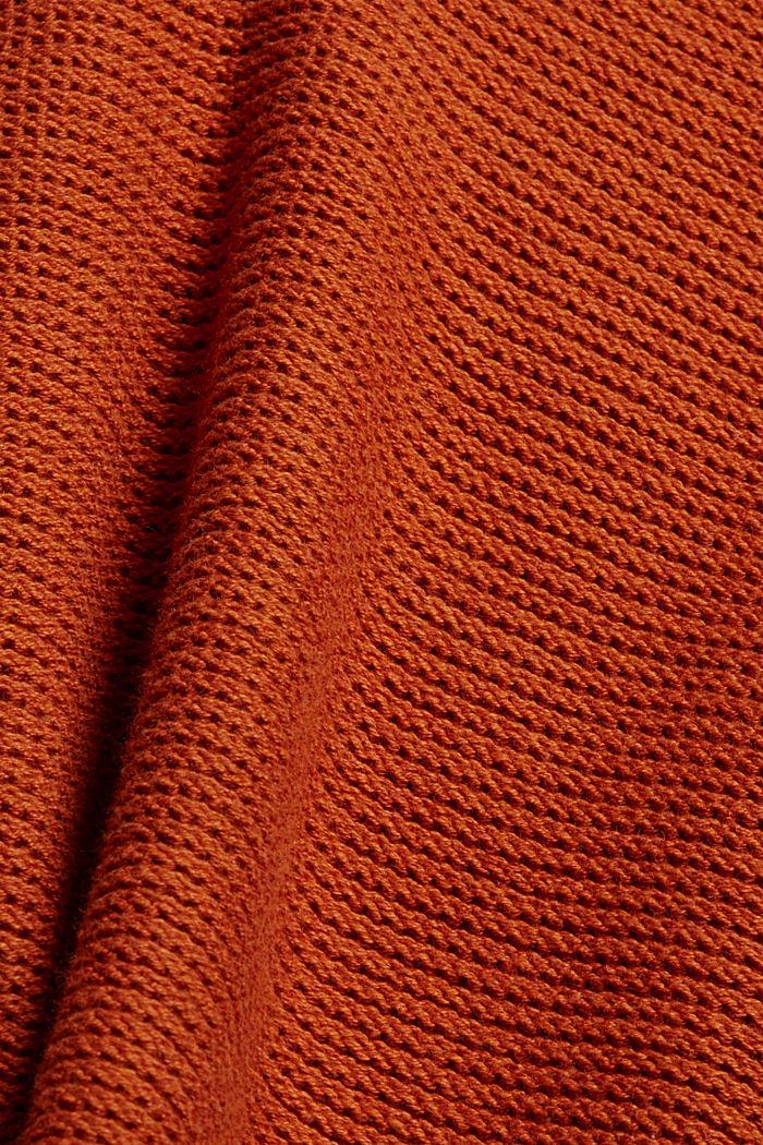 Hooded jumper, 100% cotton, RUST ORANGE, detail image number 4