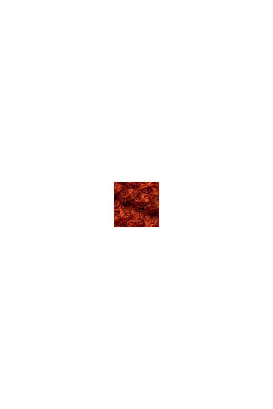 Pullover mit Kapuze, 100% Baumwolle, RUST ORANGE, swatch