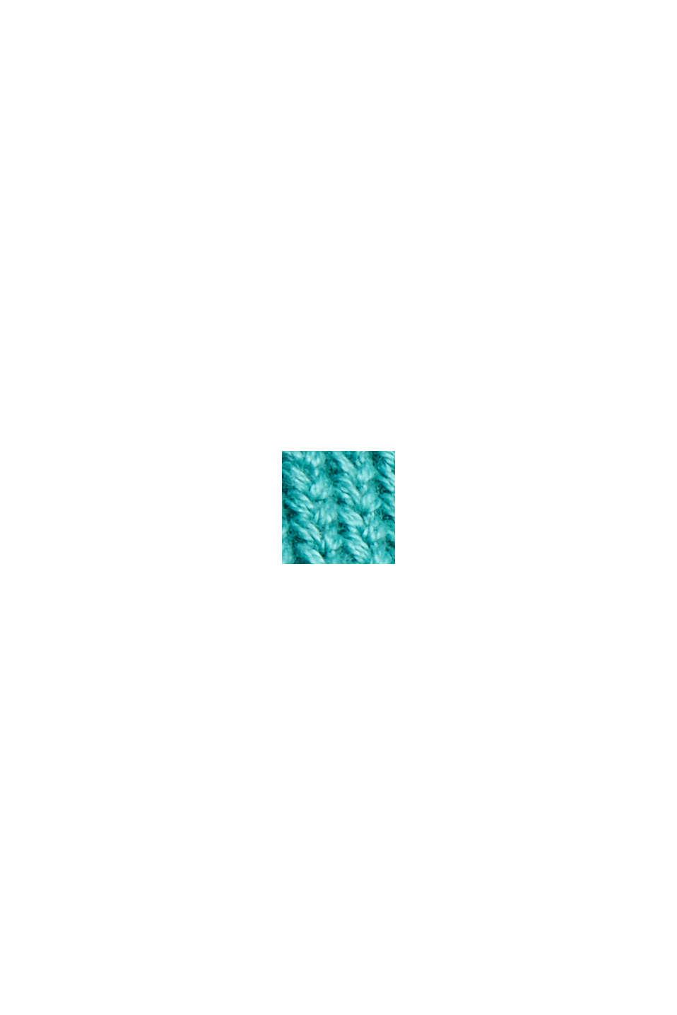 Kurzer Cardigan aus 100% Bio-Baumwolle, AQUA GREEN, swatch