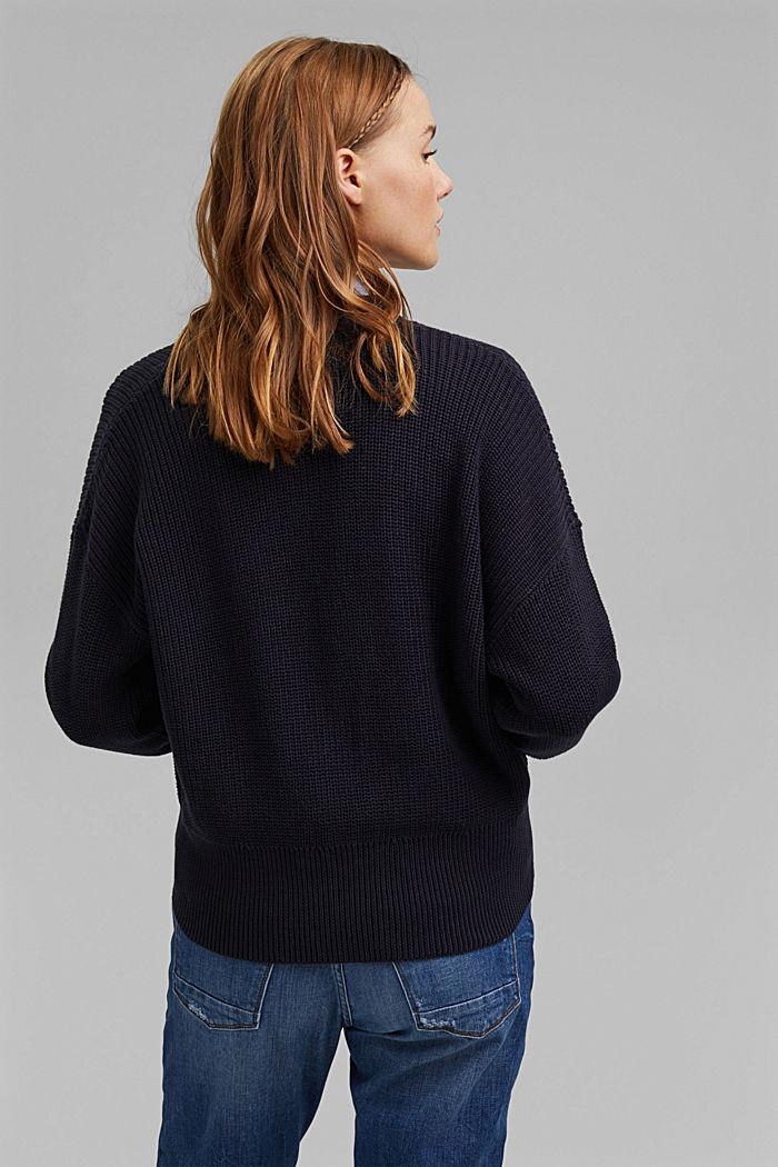 Cárdigan corto en 100% algodón ecológico, NAVY, detail image number 3