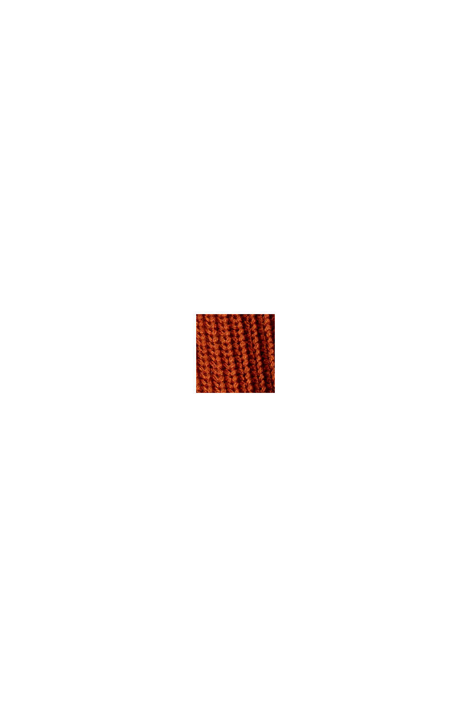Kurzer Cardigan aus 100% Bio-Baumwolle, RUST ORANGE, swatch