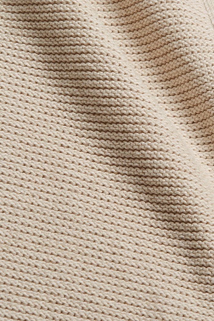 Offener Cardigan mit Kapuze, 100% Baumwolle, BEIGE, detail image number 4