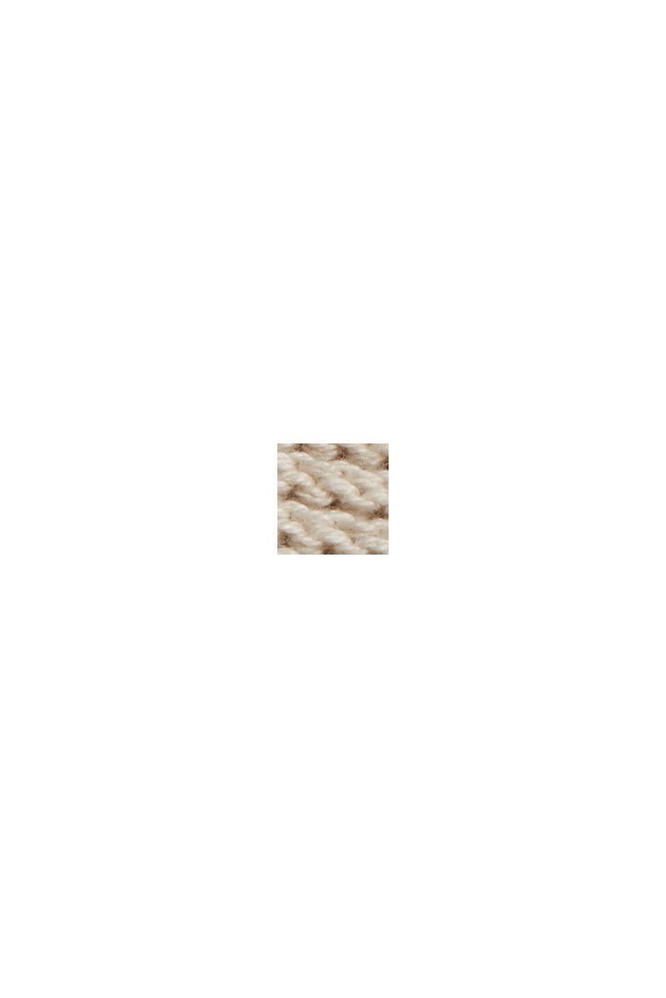 Niezapinany kardigan z kapturem, 100% bawełny, BEIGE, swatch