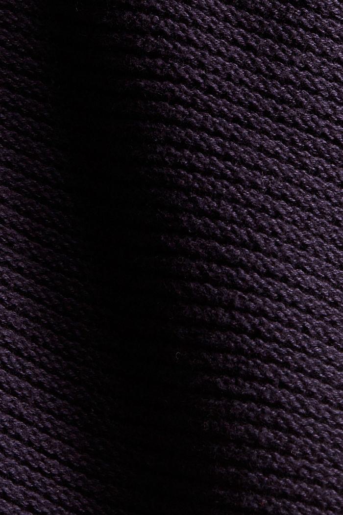 Offener Cardigan mit Kapuze, 100% Baumwolle, NAVY, detail image number 4