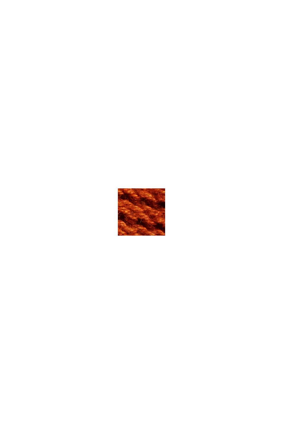 Offener Cardigan mit Kapuze, 100% Baumwolle, RUST ORANGE, swatch