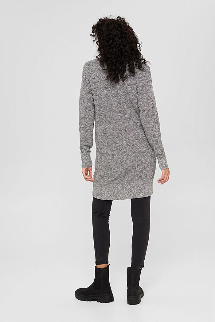 Melierter Long-Cardigan aus 100% Baumwolle, MEDIUM GREY, detail image number 3