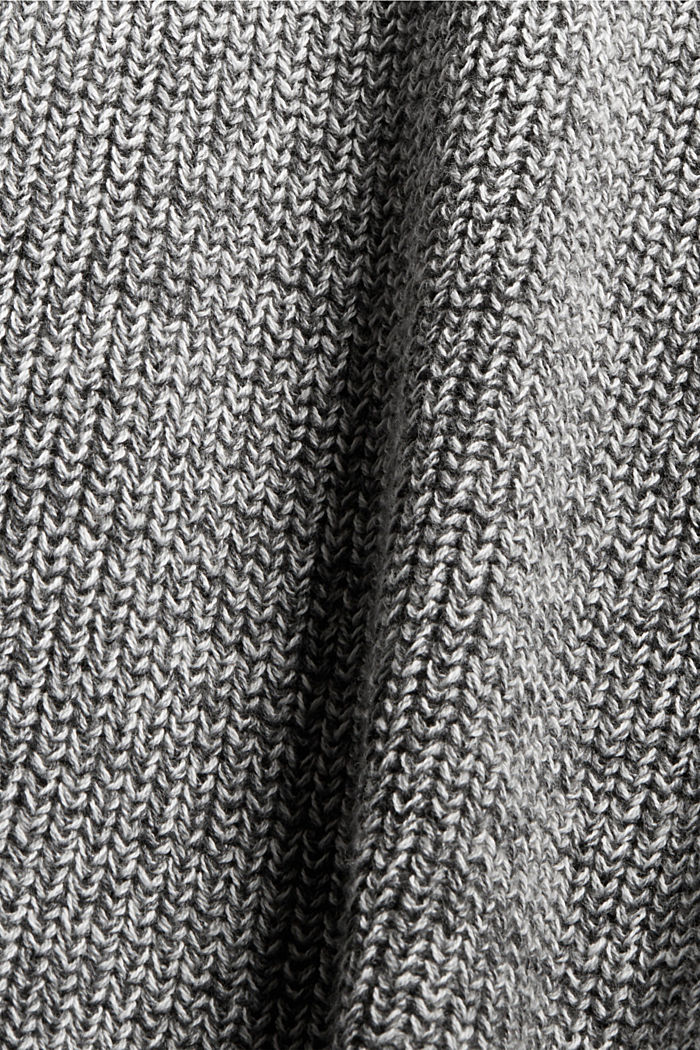 Melierter Long-Cardigan aus 100% Baumwolle, MEDIUM GREY, detail image number 4