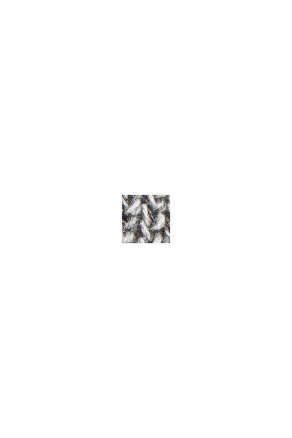 Melanżowy długi kardigan ze 100% bawełny, MEDIUM GREY, swatch