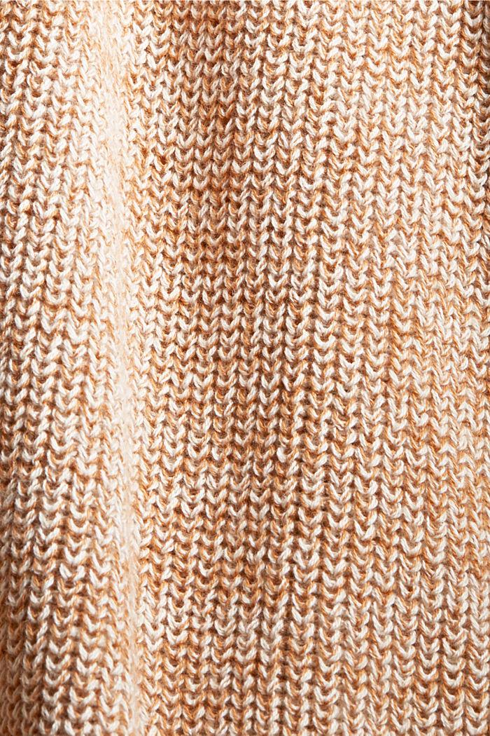 Mottled long cardigan made of 100% cotton, BEIGE, detail image number 4
