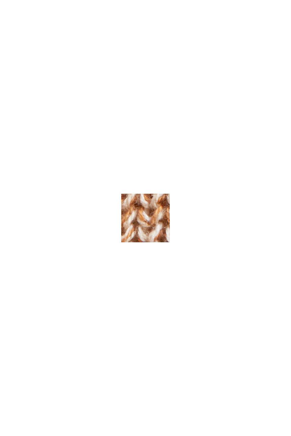 Melanżowy długi kardigan ze 100% bawełny, BEIGE, swatch