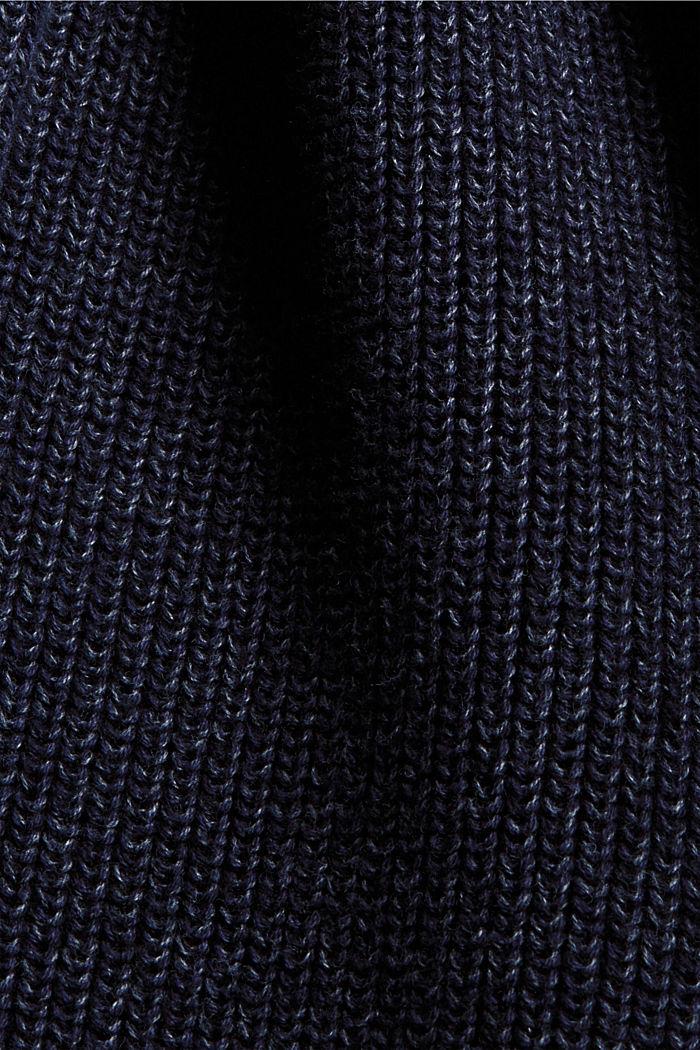 Cárdigan largo con efecto jaspeado en 100% algodón, NAVY, detail image number 4