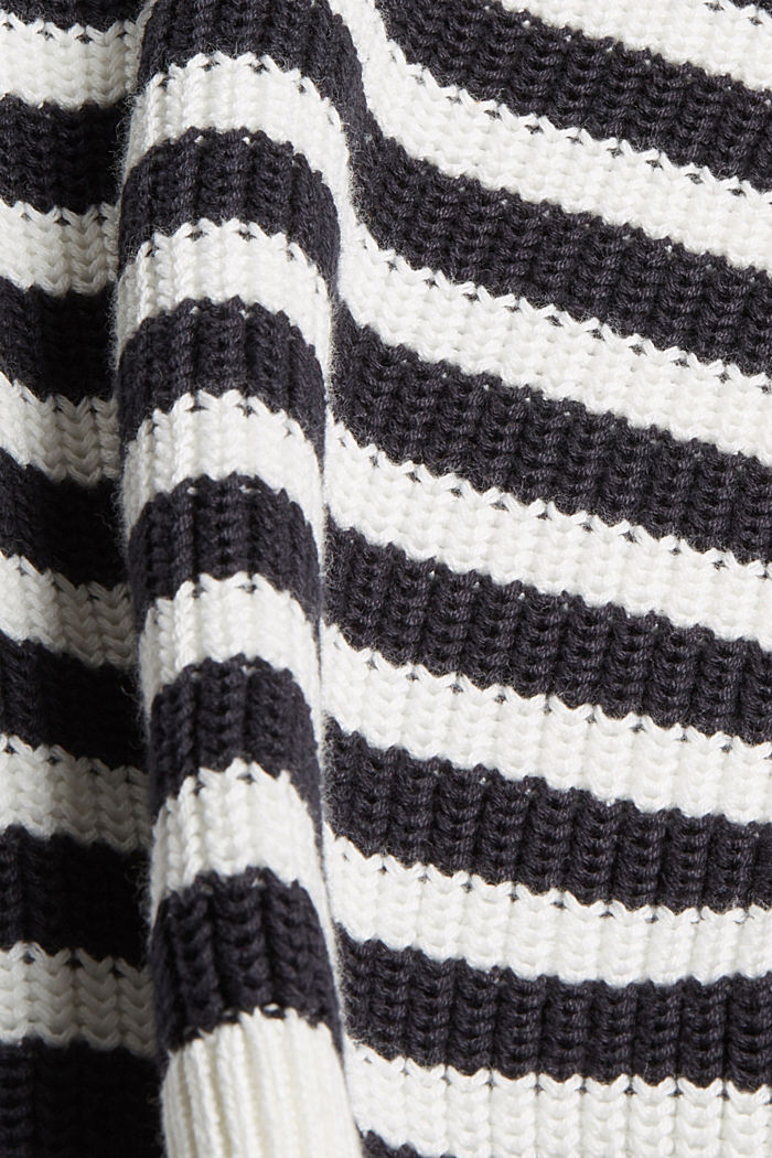 Grobstrickpullover aus 100% Organic Cotton, OFF WHITE, detail image number 4