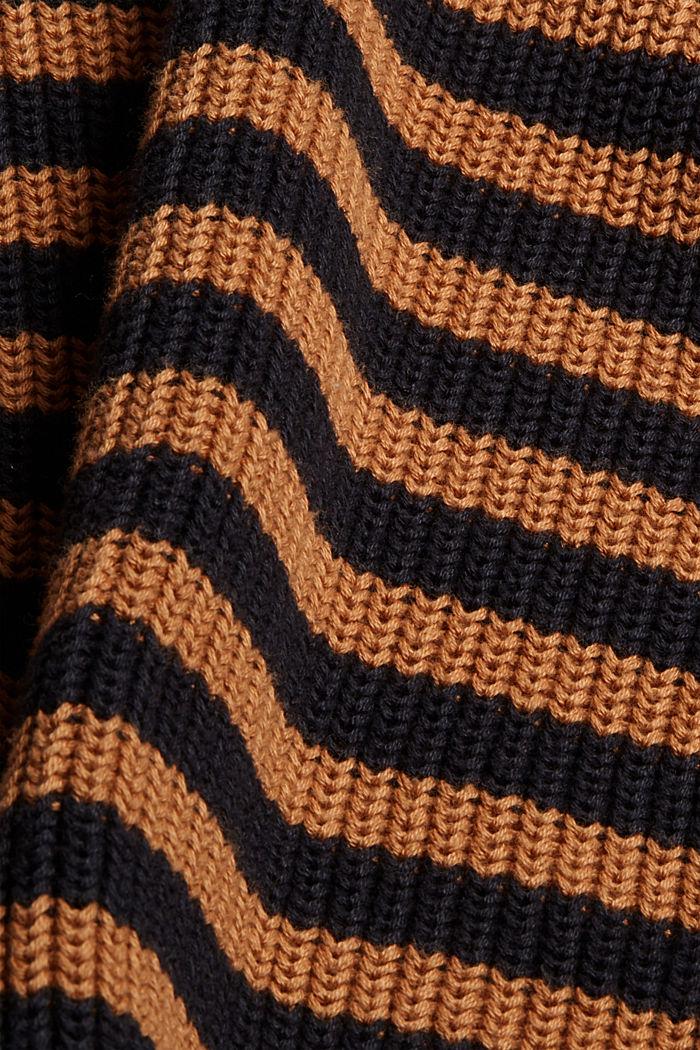 Grobstrickpullover aus 100% Organic Cotton, BARK, detail image number 4