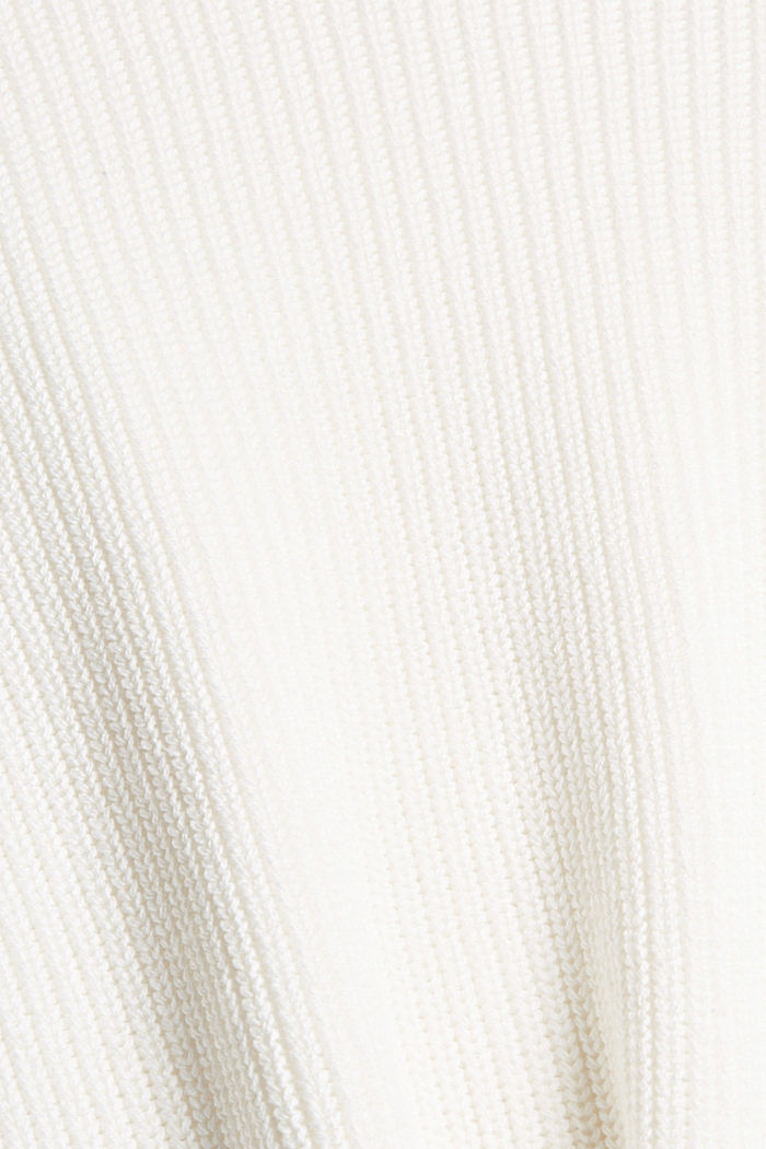 Pullover mit High-Low-Saum, 100% Bio-Baumwolle, OFF WHITE, detail image number 4
