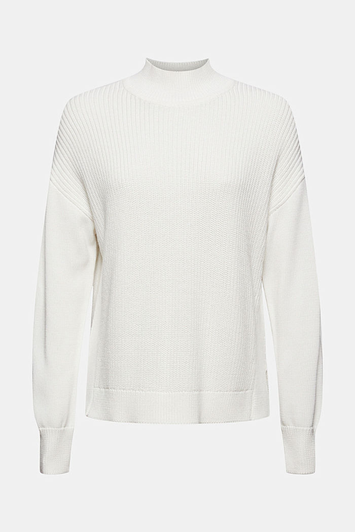 Pullover mit High-Low-Saum, 100% Bio-Baumwolle, OFF WHITE, detail image number 6