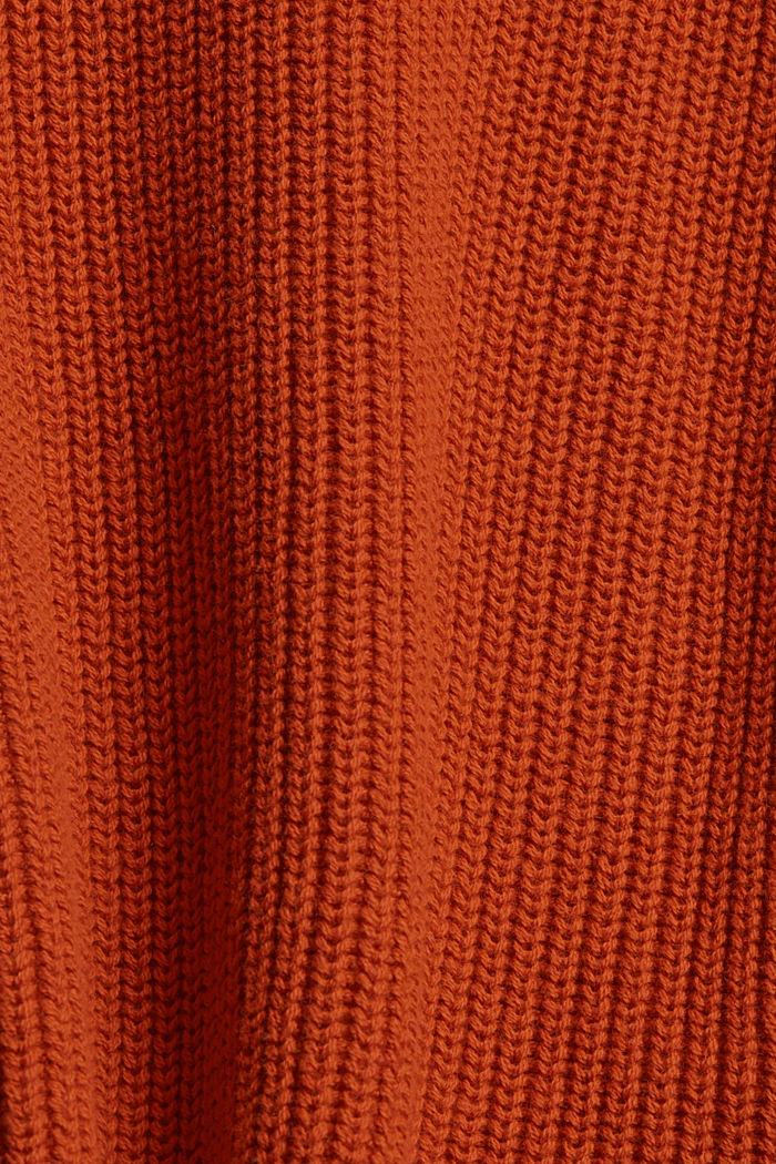 Pullover mit High-Low-Saum, 100% Bio-Baumwolle, RUST ORANGE, detail image number 4