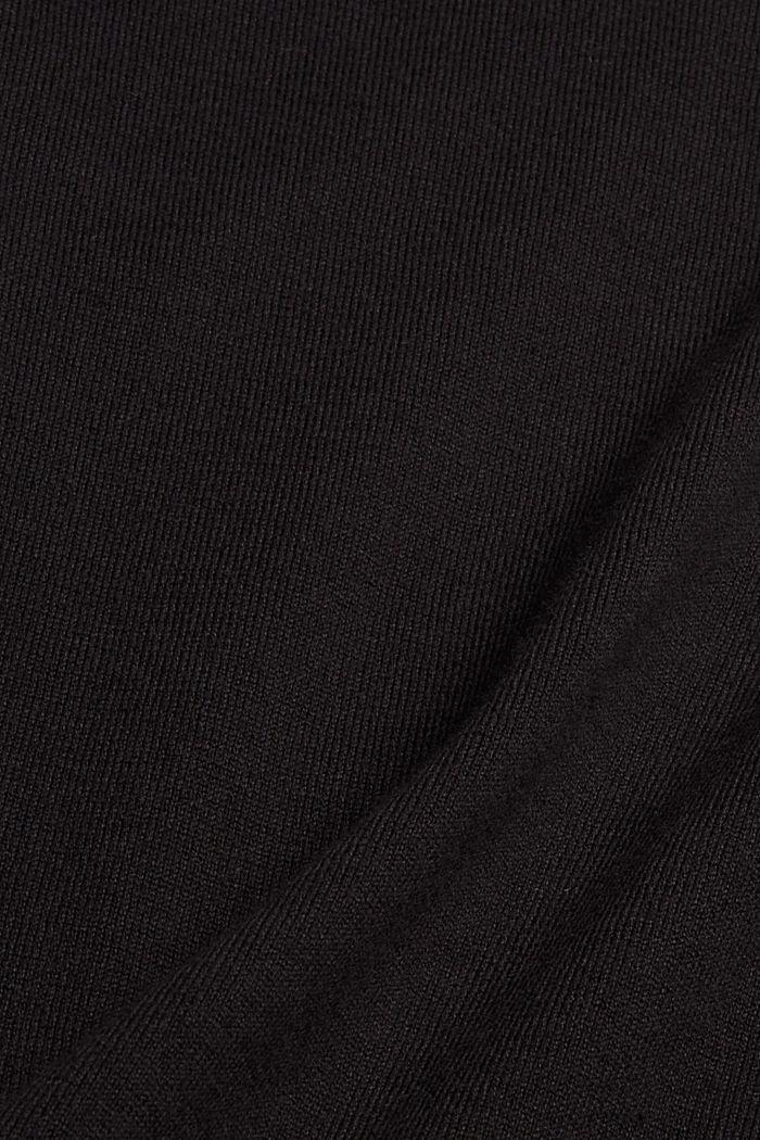 Trui met opstaande kraag van een katoenmix, BLACK, detail image number 4