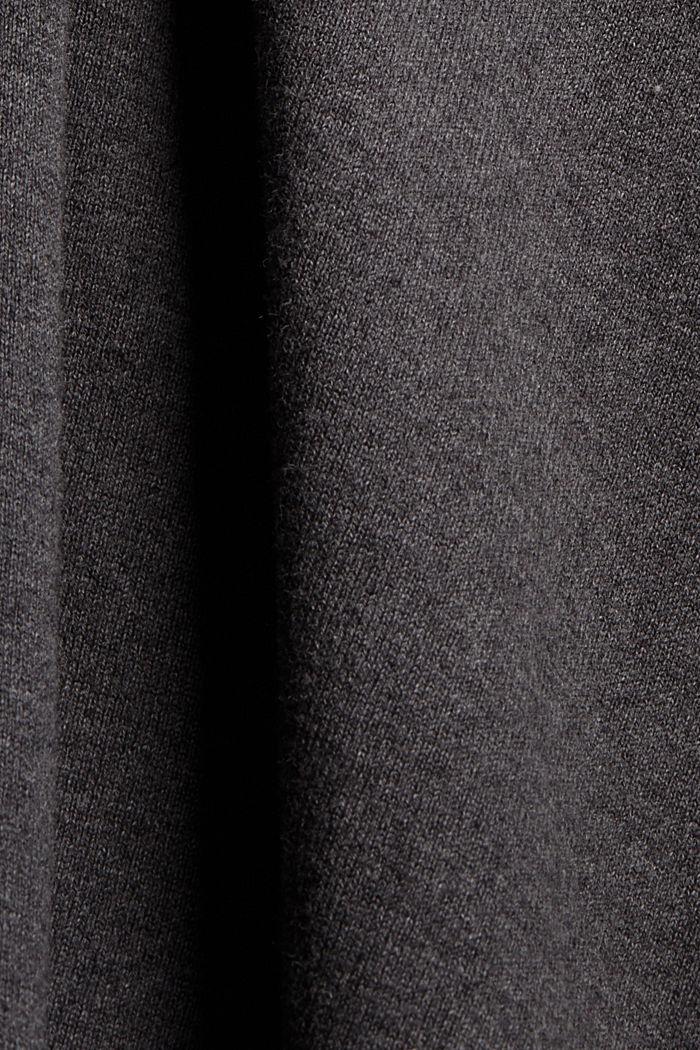 Trui met opstaande kraag van een katoenmix, ANTHRACITE, detail image number 4