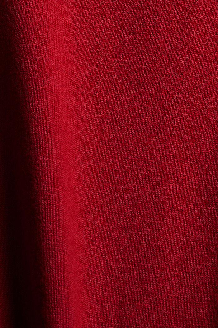 Pullover mit Stehkragen aus Baumwoll-Mix, DARK RED, detail image number 4