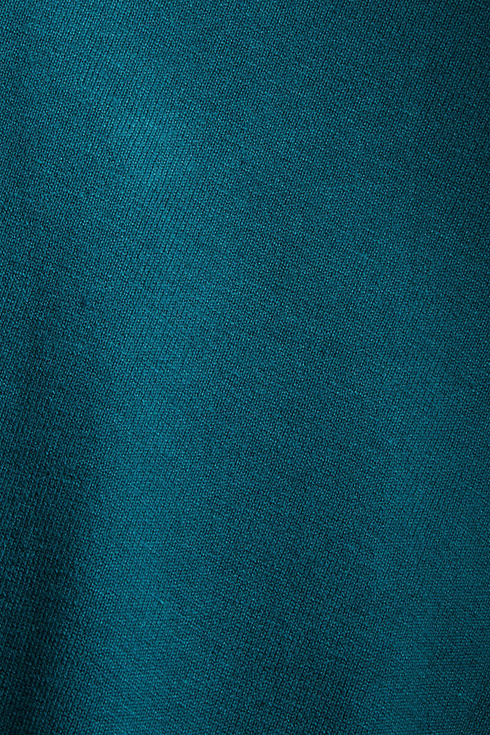 Basic V-Neck-Pullover, Bio-Baumwoll-Mix, EMERALD GREEN, detail image number 4