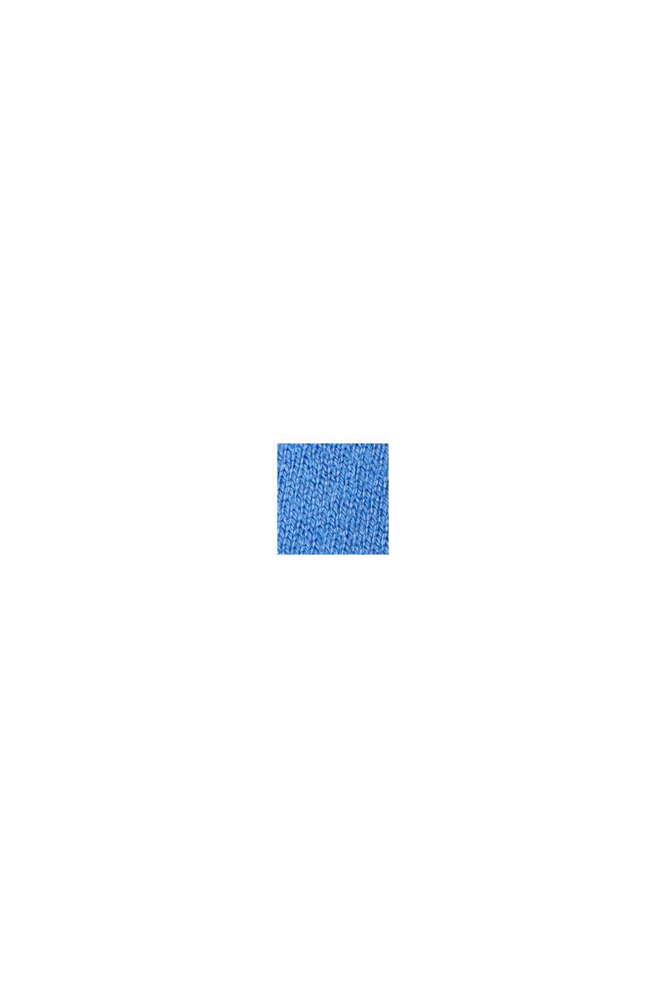 Basispullover med V-hals, økologisk bomuldsblanding, BRIGHT BLUE, swatch