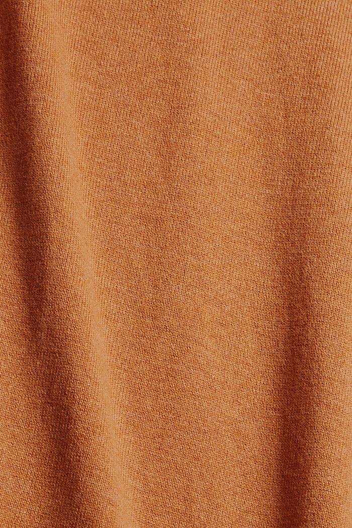 Basic trui met ronde hals, mix met biologisch katoen, BARK, detail image number 4