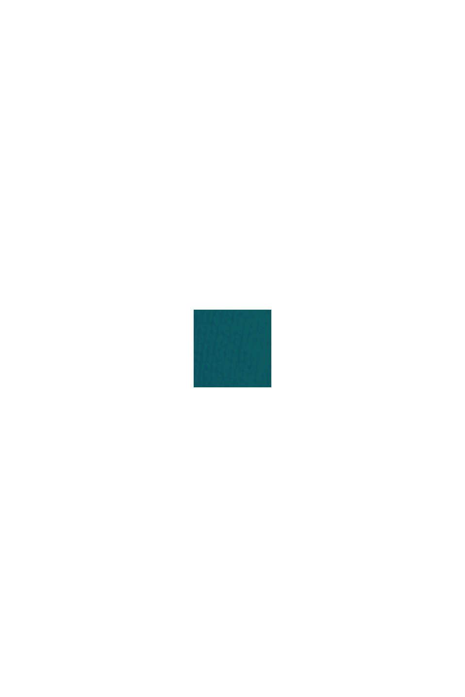 Basic Rundhals-Pullover, Bio-Baumwoll-Mix, EMERALD GREEN, swatch