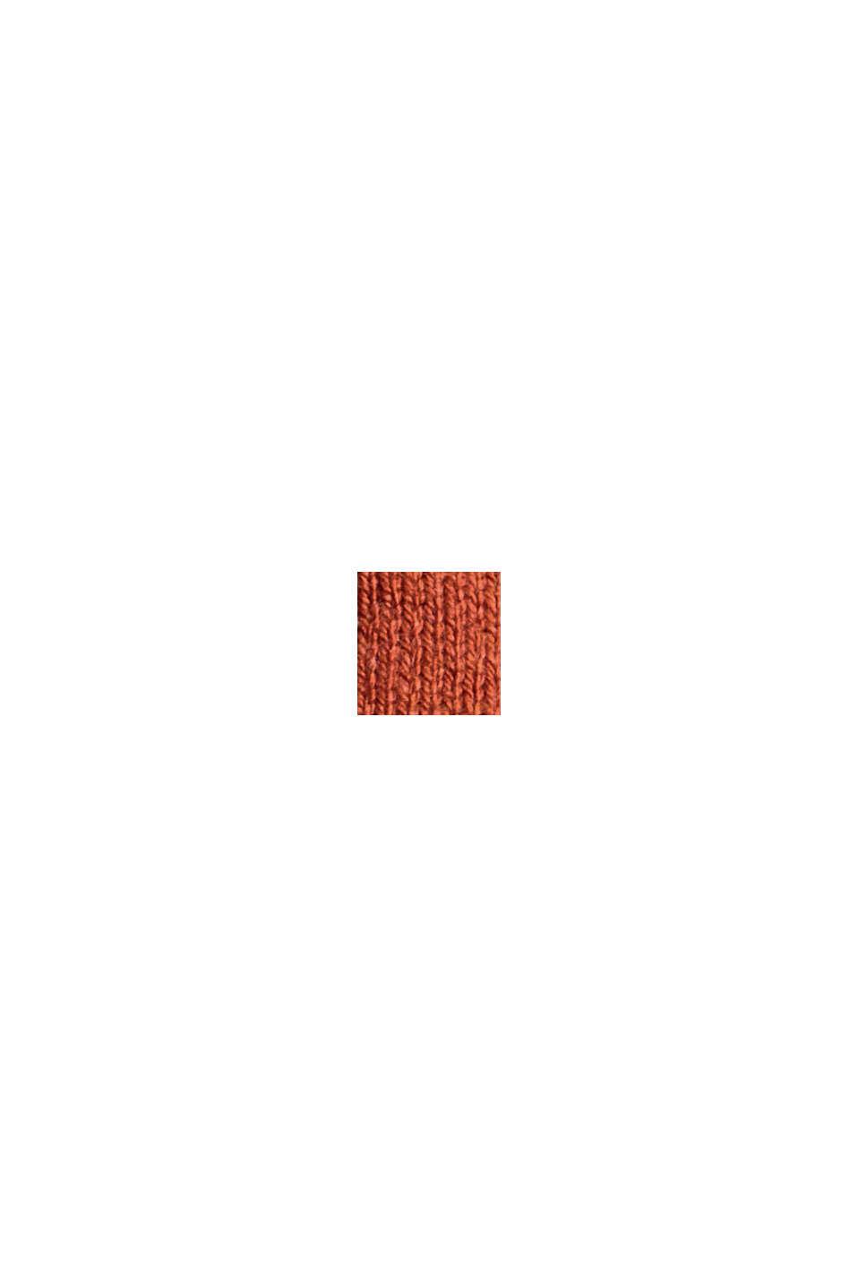 Jersey básico de cuello redondo, mezcla de algodón ecológico, RUST ORANGE, swatch