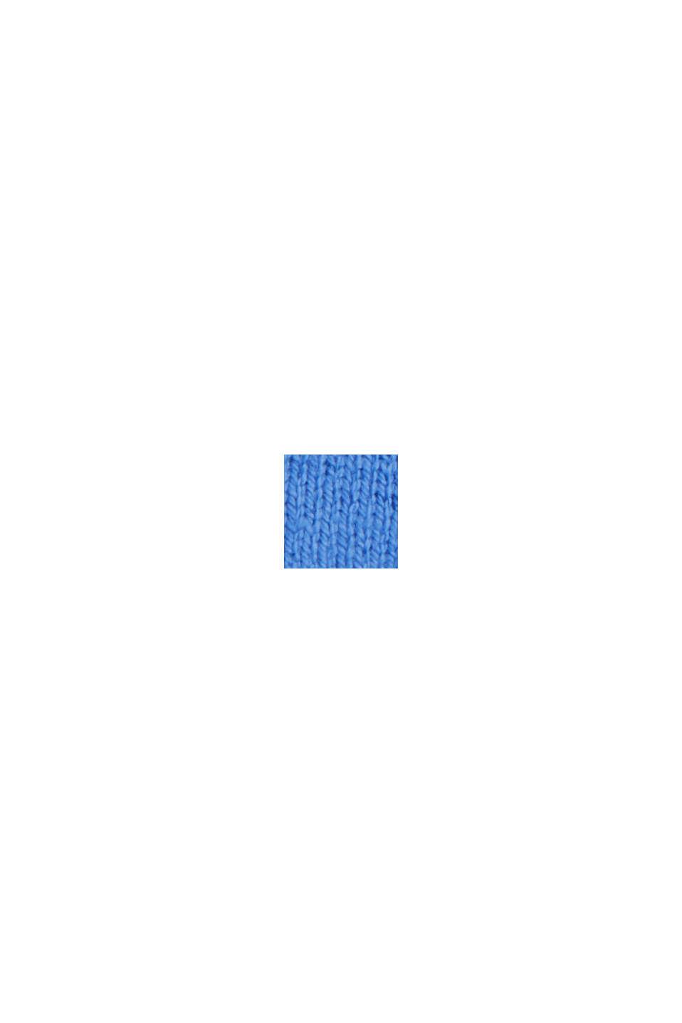 Basiscardigan med rund hals, økologisk bomuldsblanding, BRIGHT BLUE, swatch