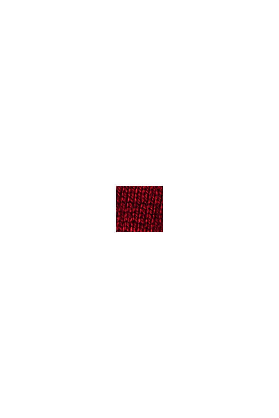 Basiscardigan med rund hals, økologisk bomuldsblanding, DARK RED, swatch