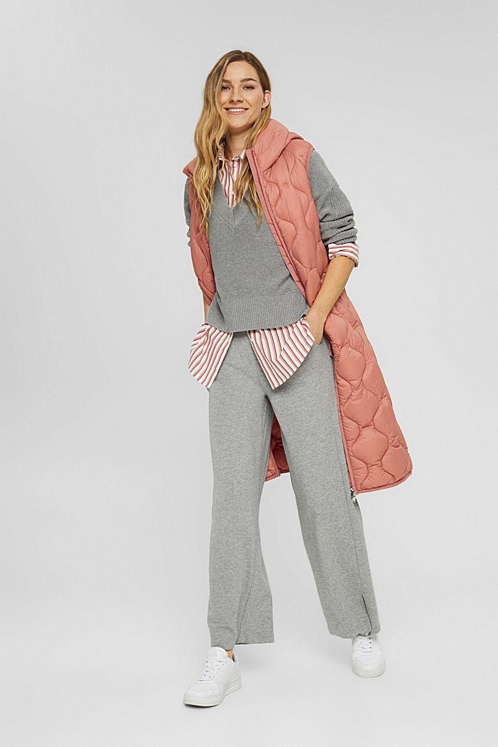 Pullover mit High-Low-Saum, 100% Baumwolle, MEDIUM GREY, detail image number 1