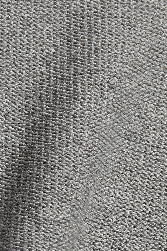 Pullover mit High-Low-Saum, 100% Baumwolle, MEDIUM GREY, detail image number 4