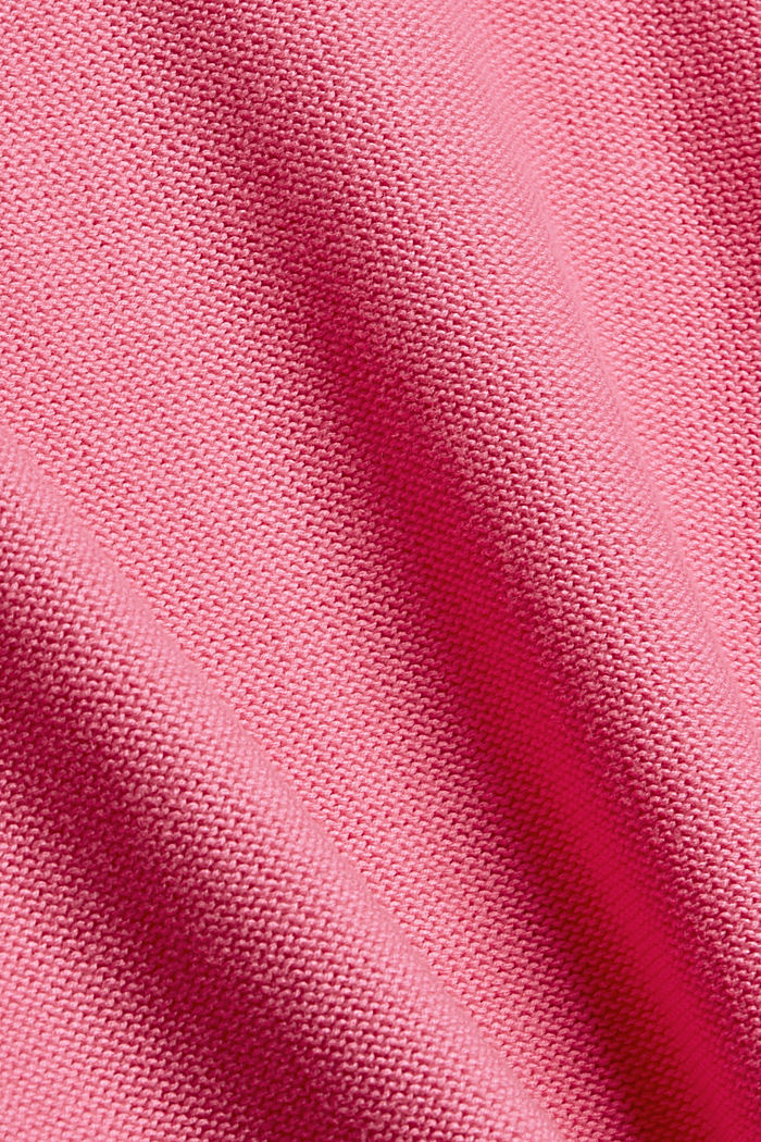 Jumper with a high-low hem, 100% cotton, PINK, detail image number 4