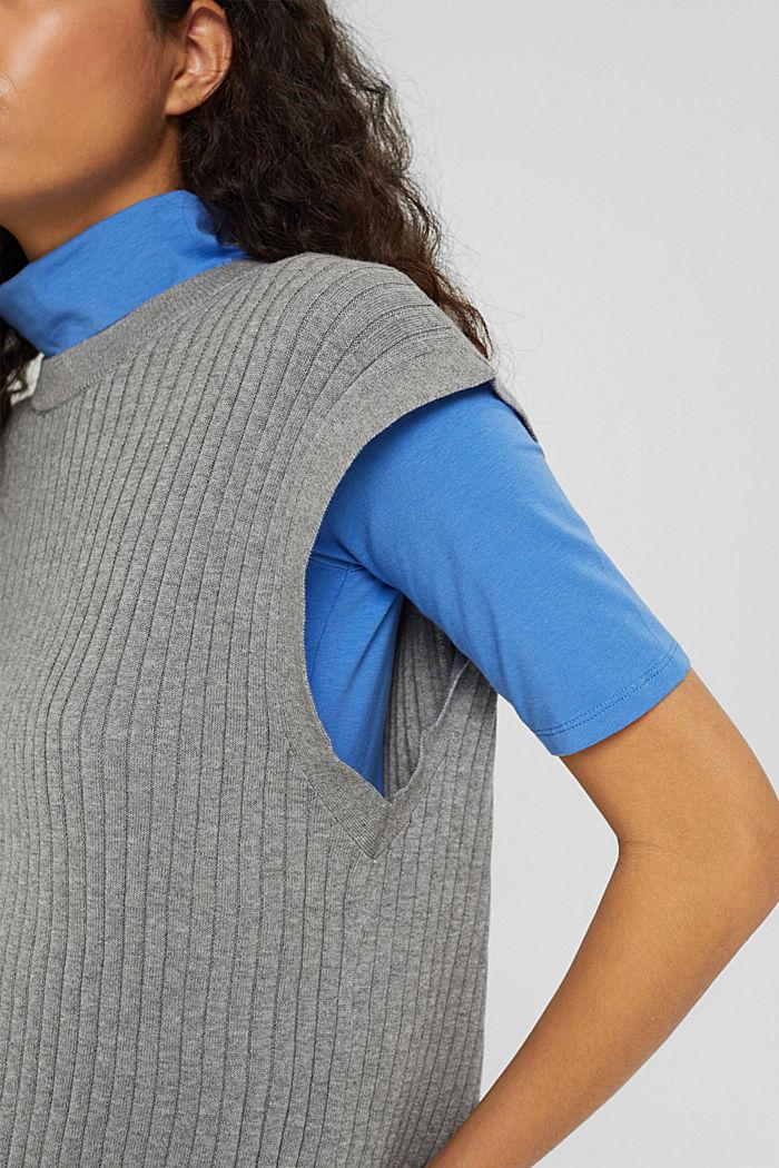 Gerippter Pullunder aus 100% Baumwolle, MEDIUM GREY, detail image number 2