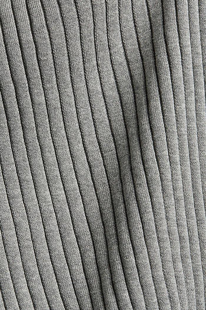 Gerippter Pullunder aus 100% Baumwolle, MEDIUM GREY, detail image number 4