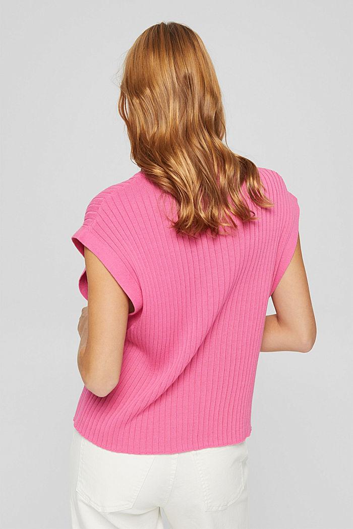 Gerippter Pullunder aus 100% Baumwolle, PINK, detail image number 3