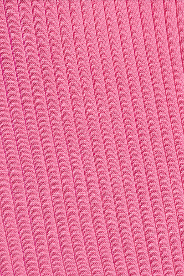 Gerippter Pullunder aus 100% Baumwolle, PINK, detail image number 4