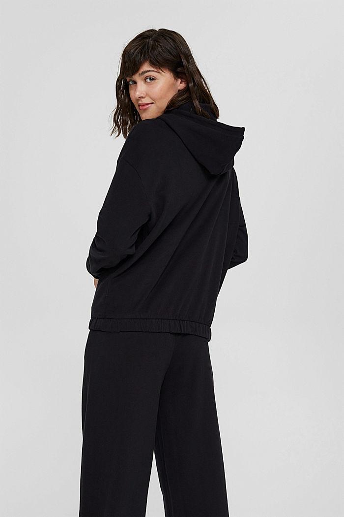 Hoodie made of 100% organic cotton, BLACK, detail image number 3