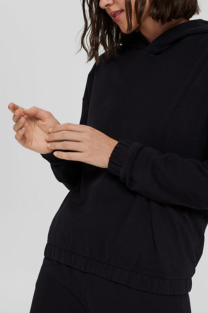 Hoodie made of 100% organic cotton, BLACK, detail image number 2