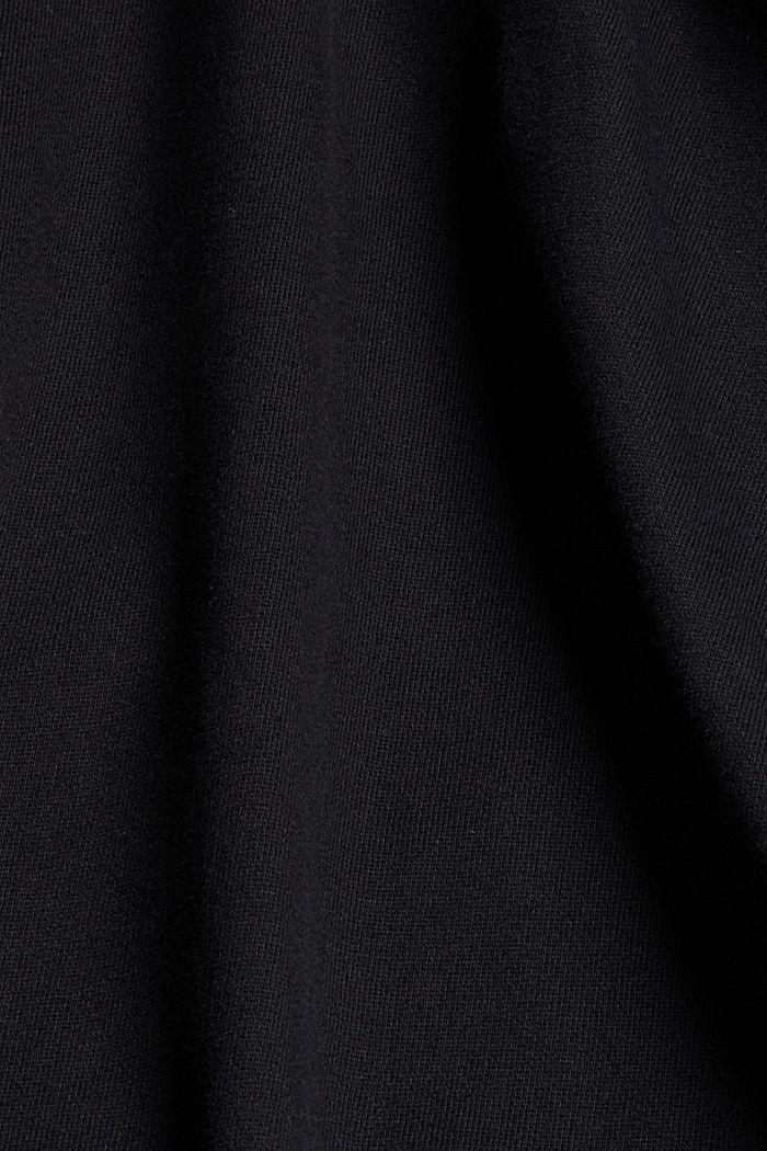 Hoodie made of 100% organic cotton, BLACK, detail image number 4
