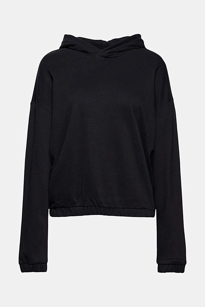 Hoodie made of 100% organic cotton, BLACK, detail image number 5