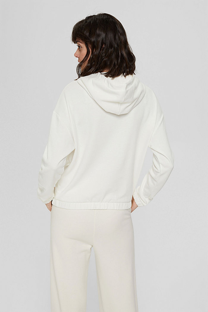 Hoodie made of 100% organic cotton, OFF WHITE, detail image number 3