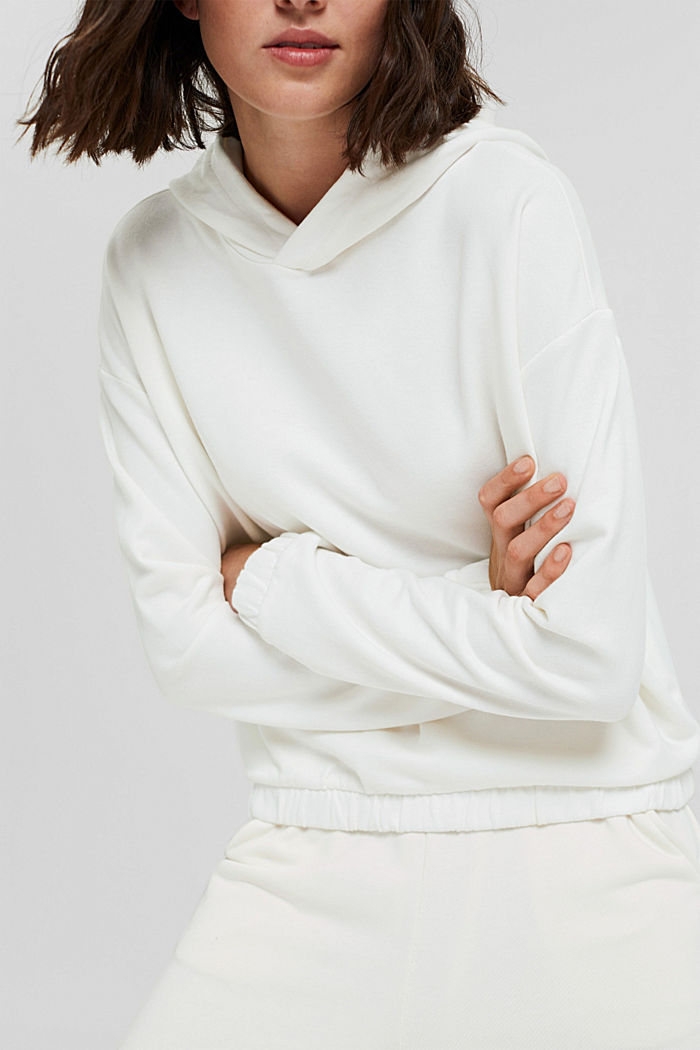 Hoodie made of 100% organic cotton, OFF WHITE, detail image number 2