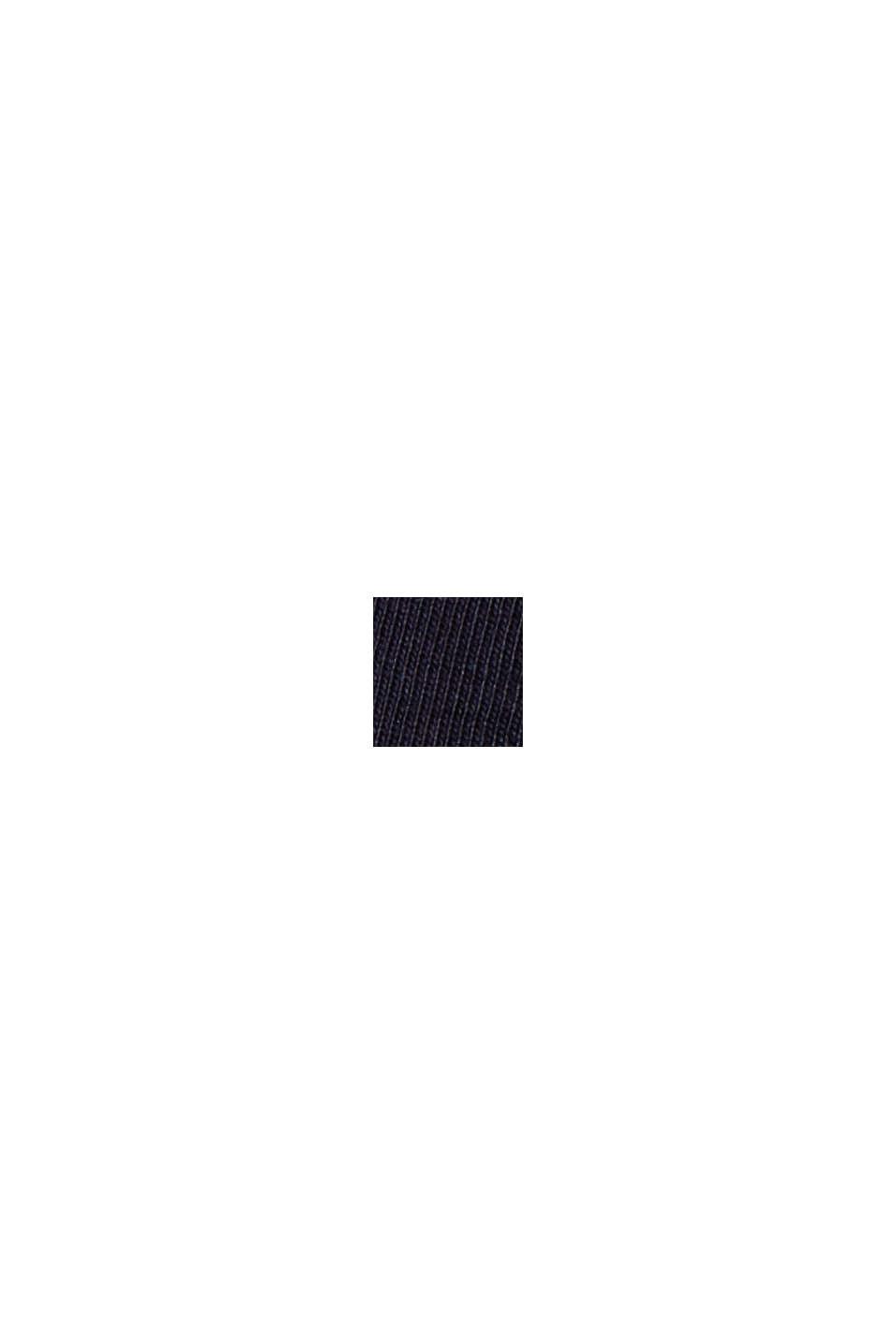 Stehkragen-Shirt aus 100% Bio-Baumwolle, NAVY, swatch