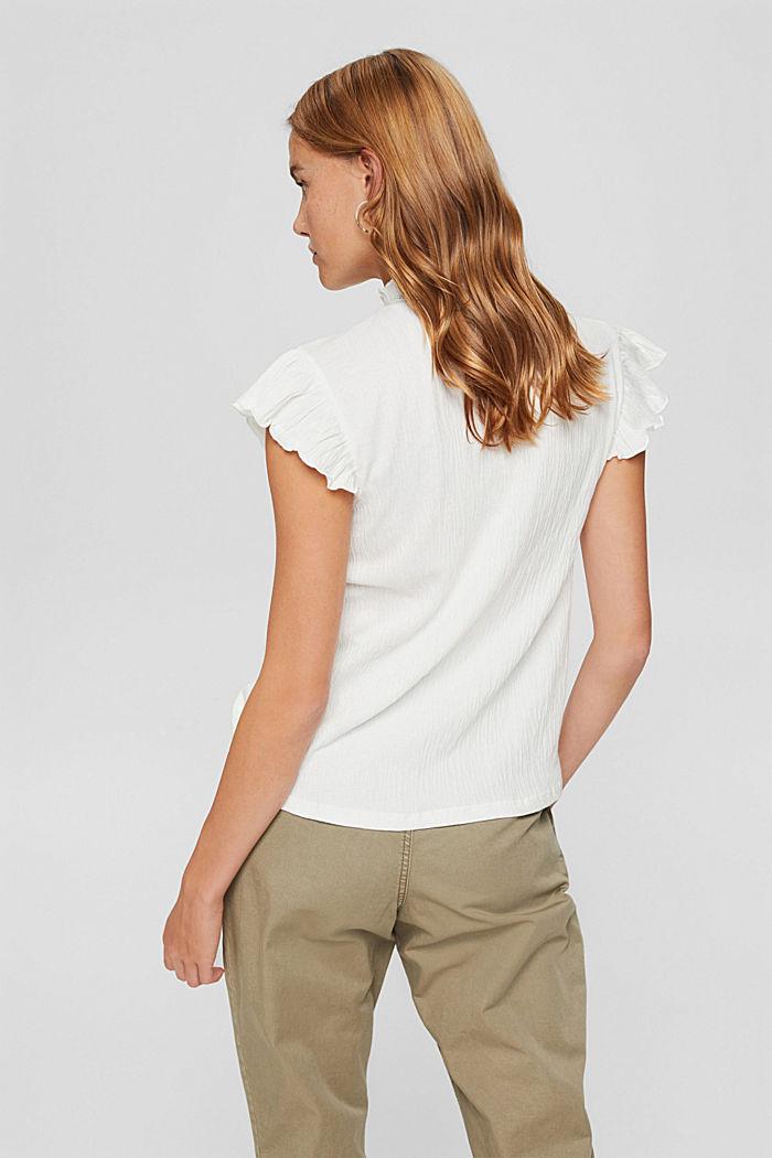 Shirt mit Stickerei und Flügelärmeln, OFF WHITE, detail image number 3
